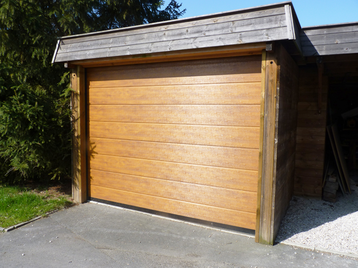 Porte sectionnelle sur garage
